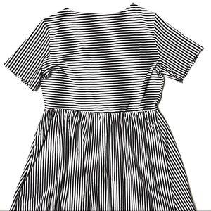 ASOS Dresses - Asos Mini V-neck Button Through Stripe Dress